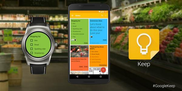 Google Keep for Android Wear