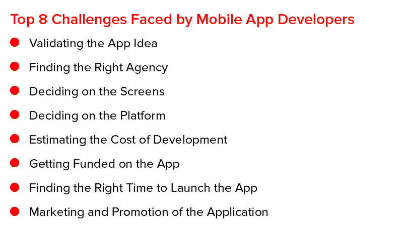Top 8 Challenges Faced by Mobile App Developers