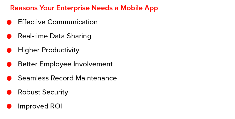 Reasons Your Enterprise Needs a Mobile App