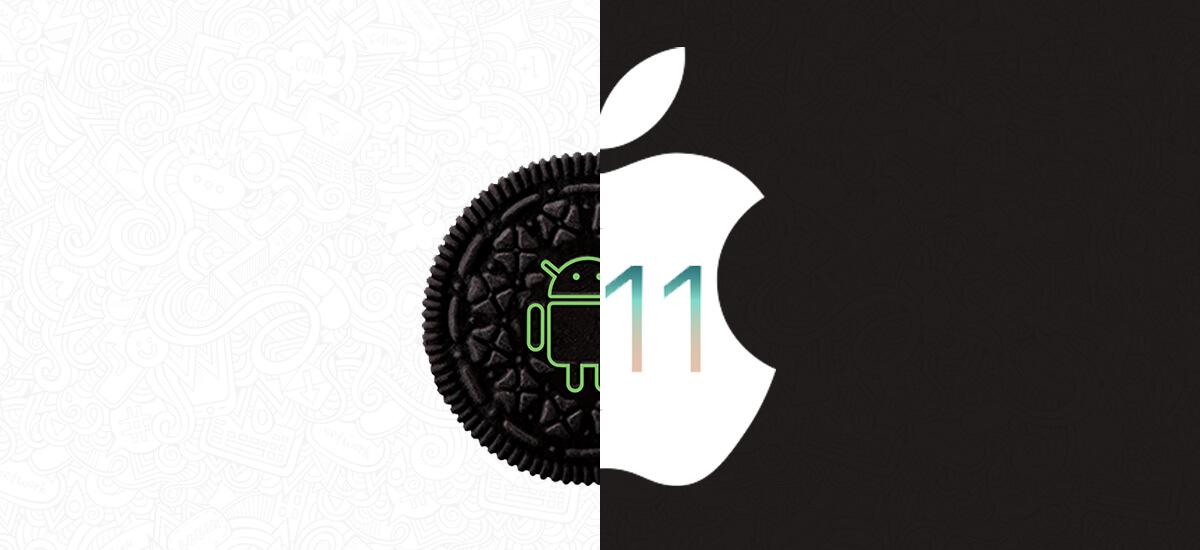 Oreo vs iOS 11