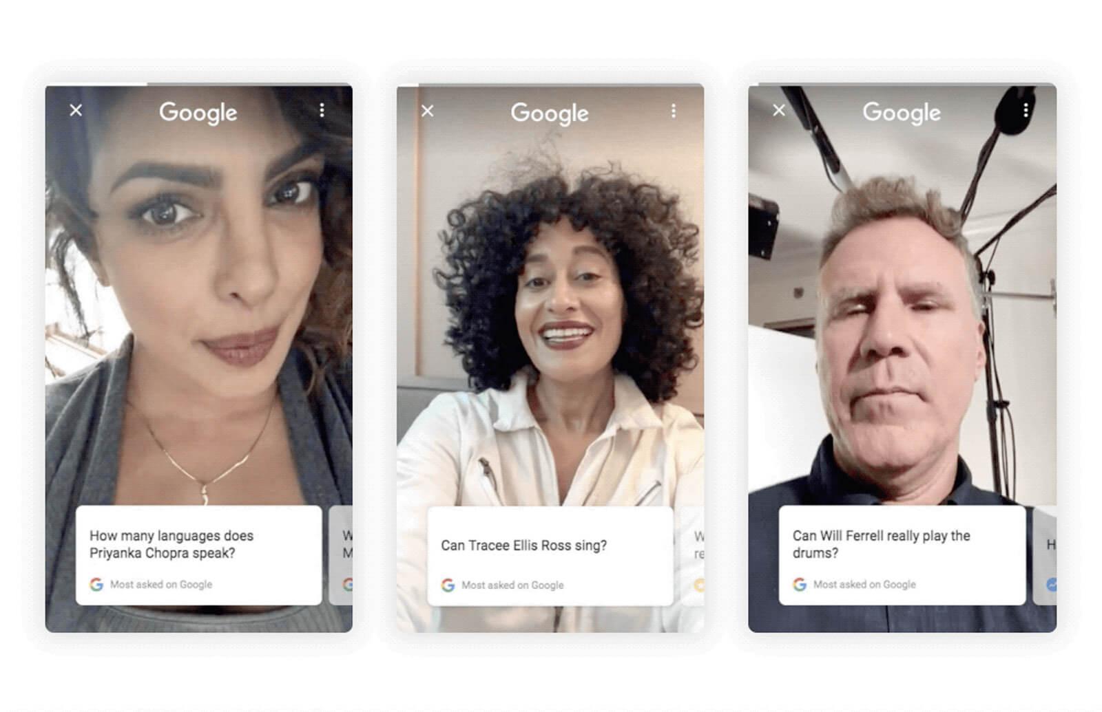 Google celebrity answers