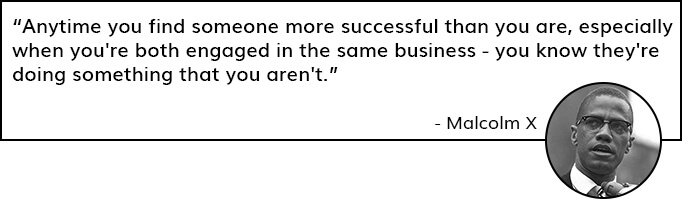 Quote by Malcolm X on Competition
