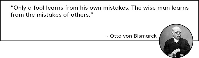 Quote by Otto Von Bismarck on Getiing Reviews