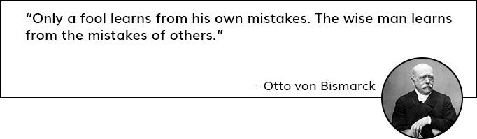 Quote by Otto Von Bismarck on Getiing Reviews