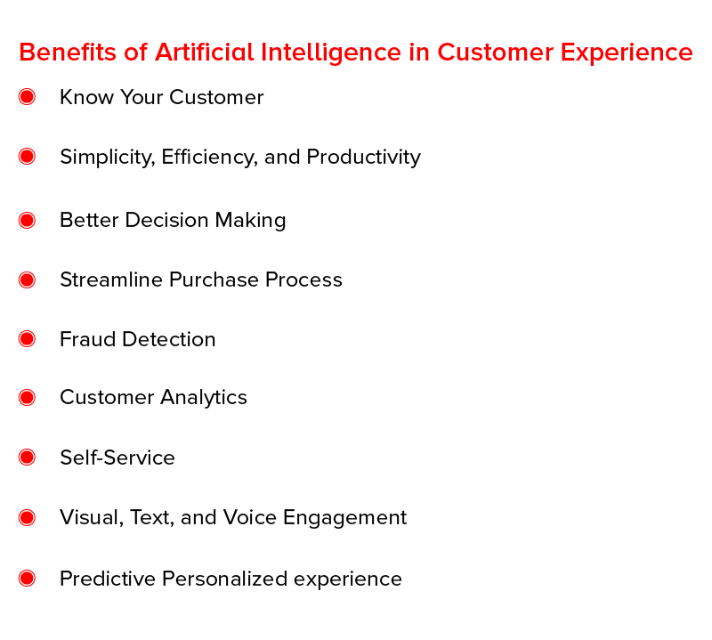 Benefits of artificial intelligence in customer experience