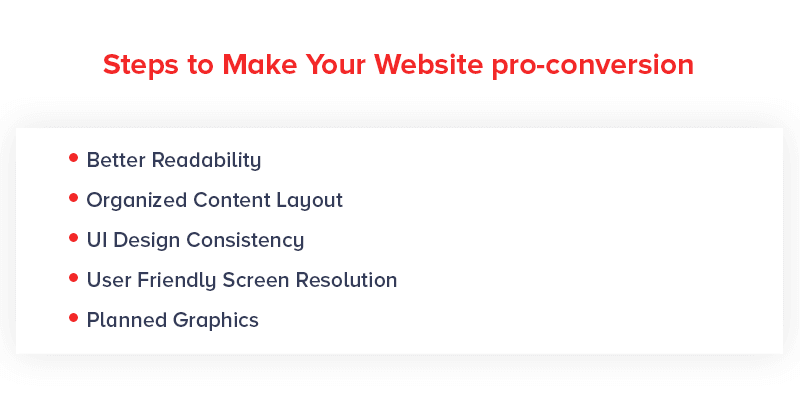 Steps to Make Your Website pro-conversion