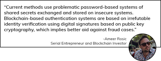 Ameer Rosic speaks on Blockchain based Authentication Systems