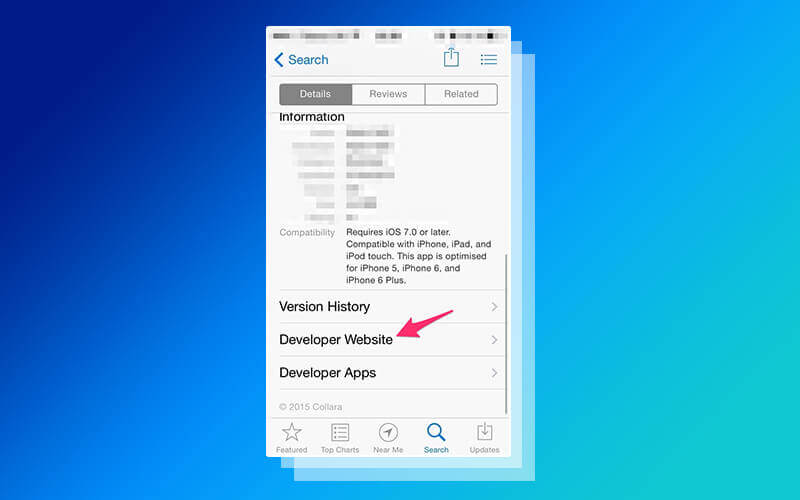 Developer Information during Apple App Store Submissions