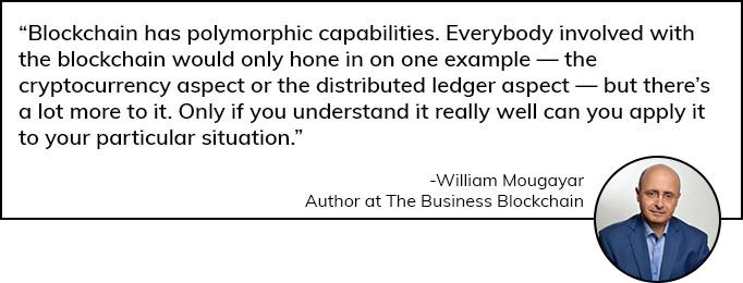 William Mougayar opinion on Blockchain App Development