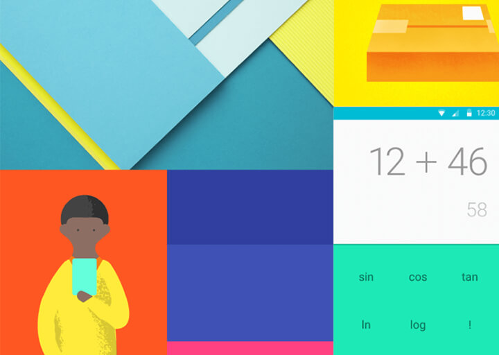 Bold Colours Material Design