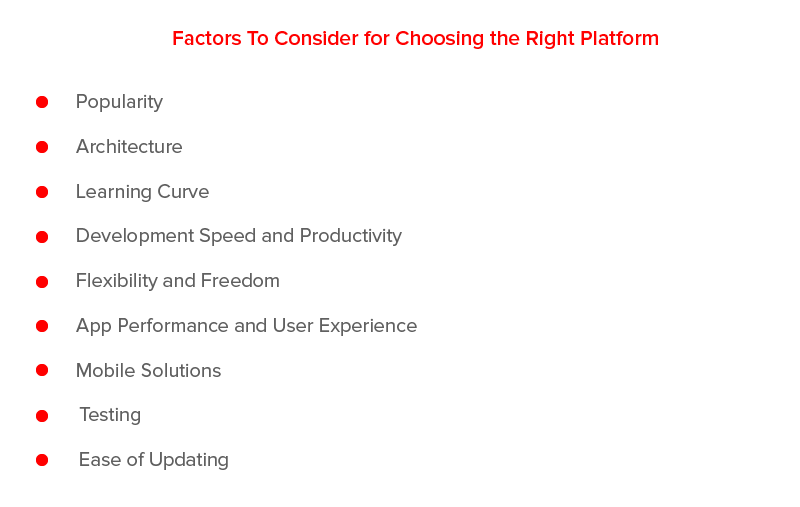 Factors to Consider for Choosing the Right Platform