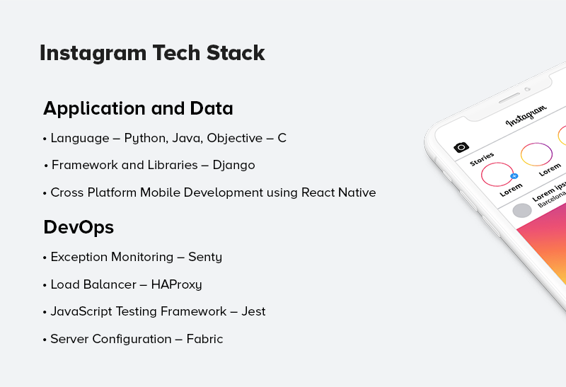 Instagram App Tech Stack