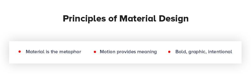 Principles of Google Material Design