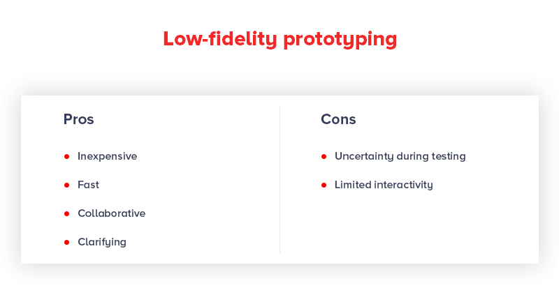 Low Fidelity Prototypes Pros and Cons
