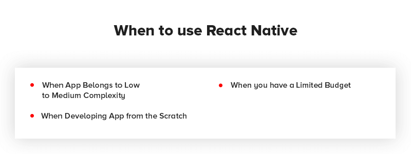 When to use React Native App Development