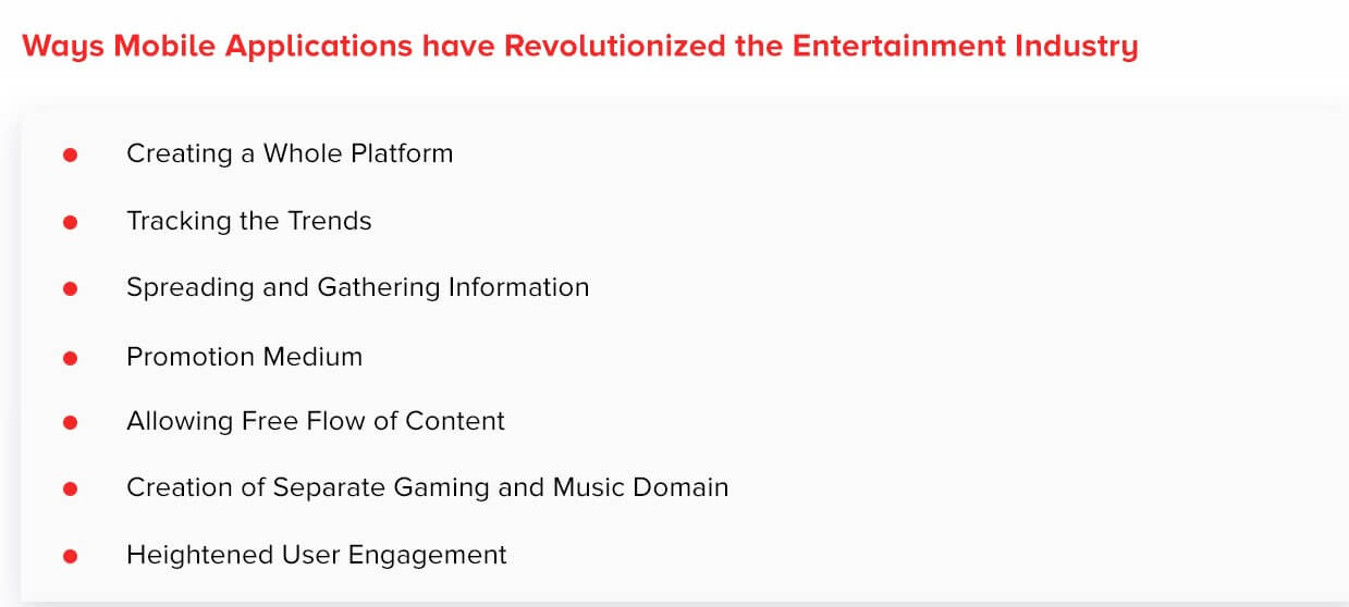 Why Mobile Applications have Revolutionized the Entertainment Industry