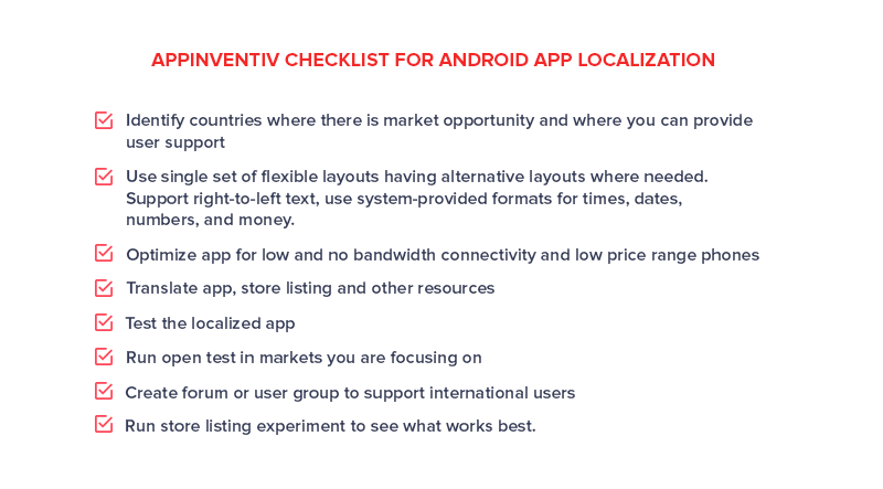 Appinventiv Checklist For Android App Localization