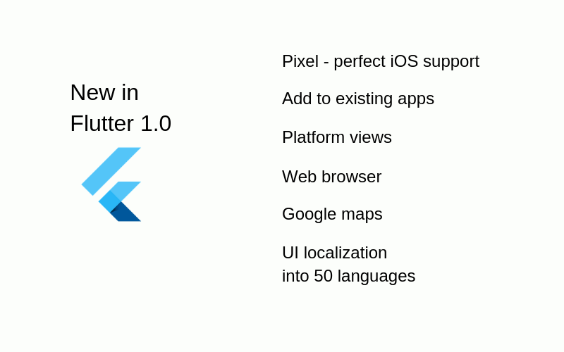 Flutter 1.0 Features