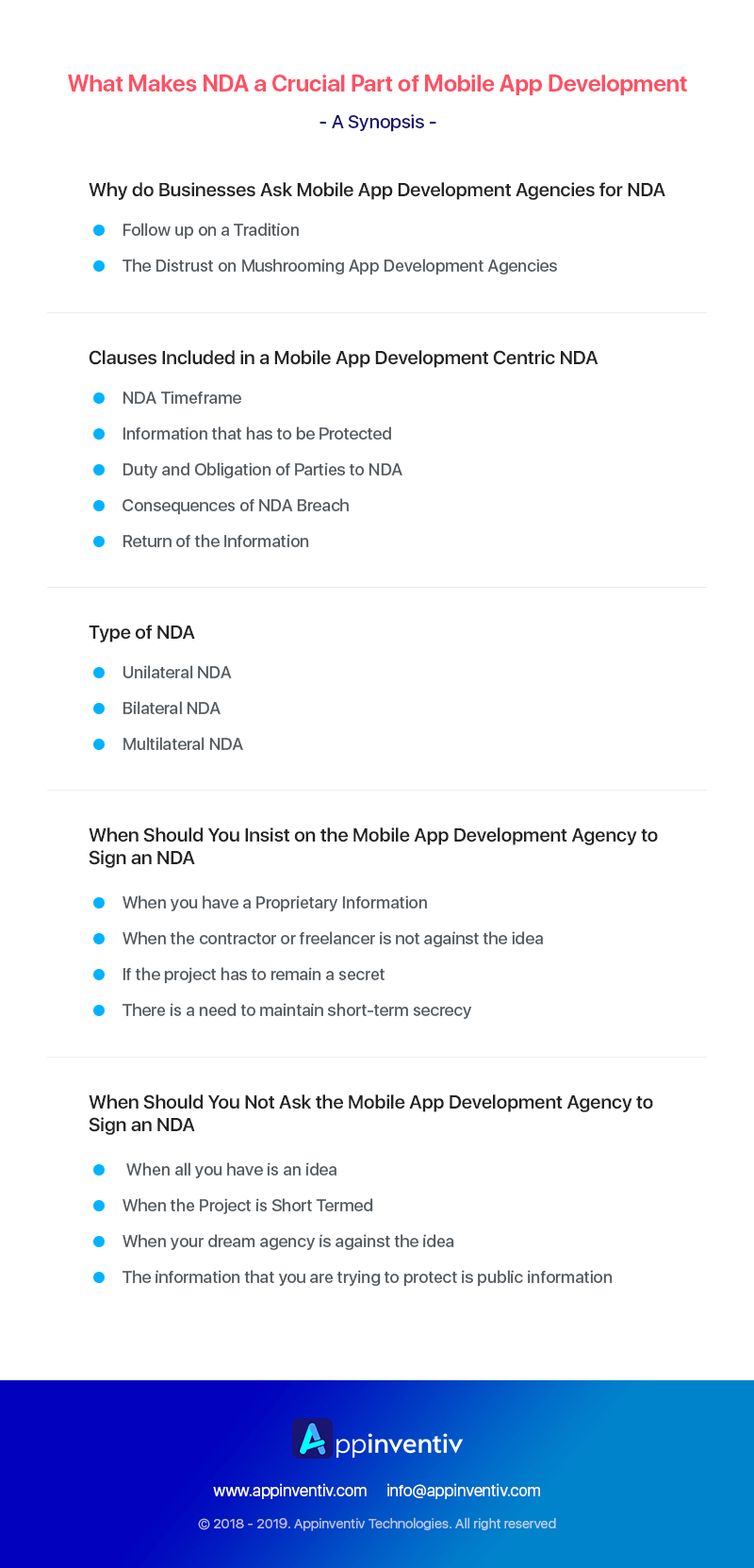 Summary for the Importance of NDA in mobile app development