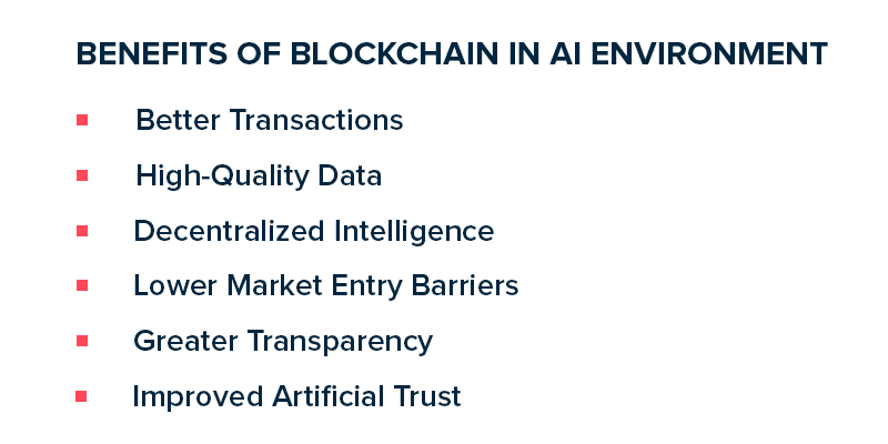 Benefits of Blockchain in AI Environment