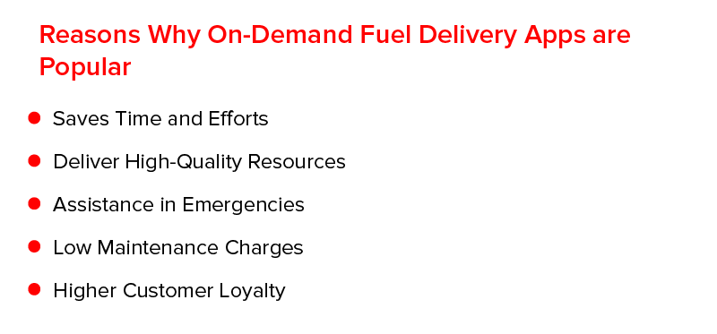 Reasons Why on-Demand Fuel Delivery Apps are Popular