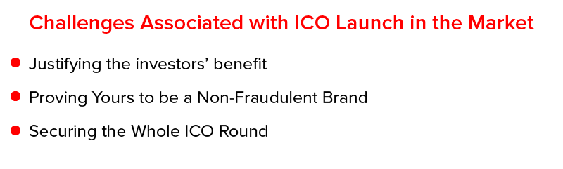 Challenges associated with ICO Launch in the Market