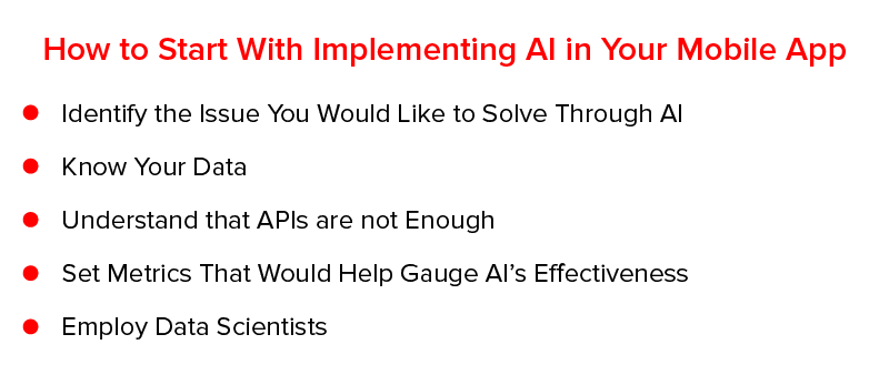 How to Start With Implementing AI in Your Mobile App