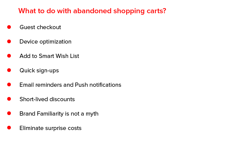 What to do with Abandoned Shopping Carts