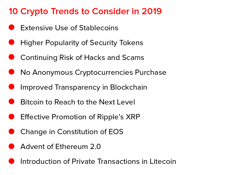 10 Crypto Trends to consider in 2019