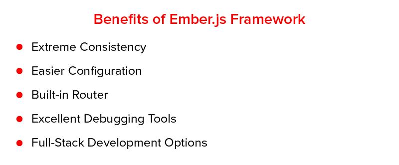 Benefícios do framework Ember.js