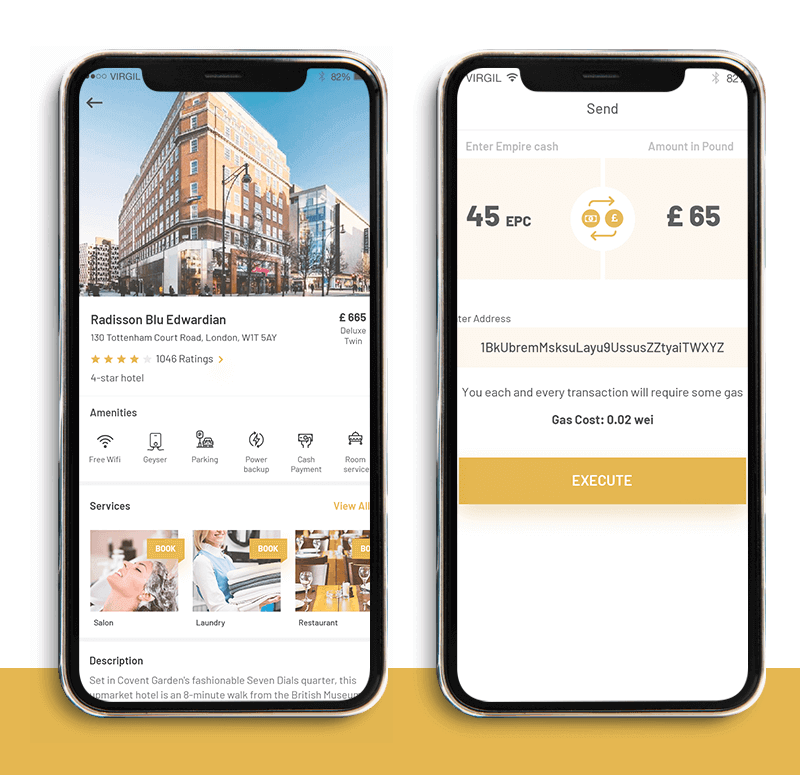 Empire - a hotel booking app powered on Blockchain