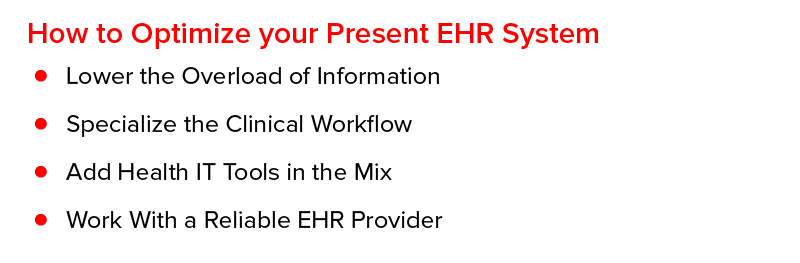 How to Optimize your Present EHR System