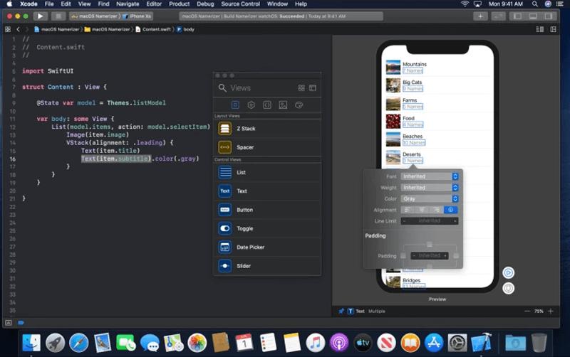 Swift UI and XCode 11