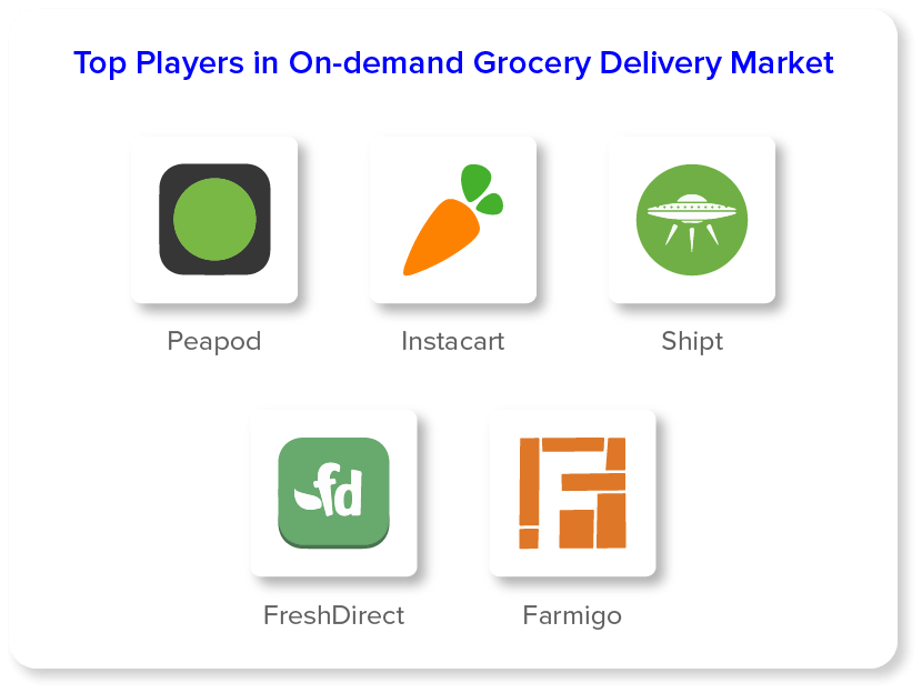 Top Players in On Demand Grocery Delivery Market