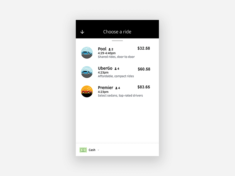 Uber UX design guidelines for on-demand apps: Treat Paying and Non-Paying Users Alike