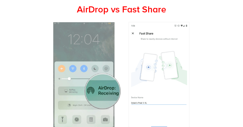 Air Drop Vs Fast Share