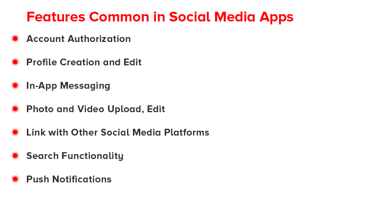Common Features of Social Media Apps