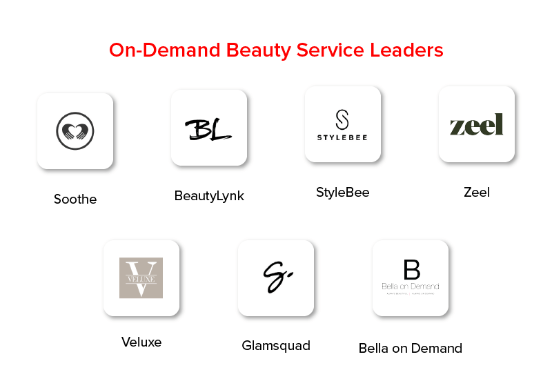 On demand beauty services leaders