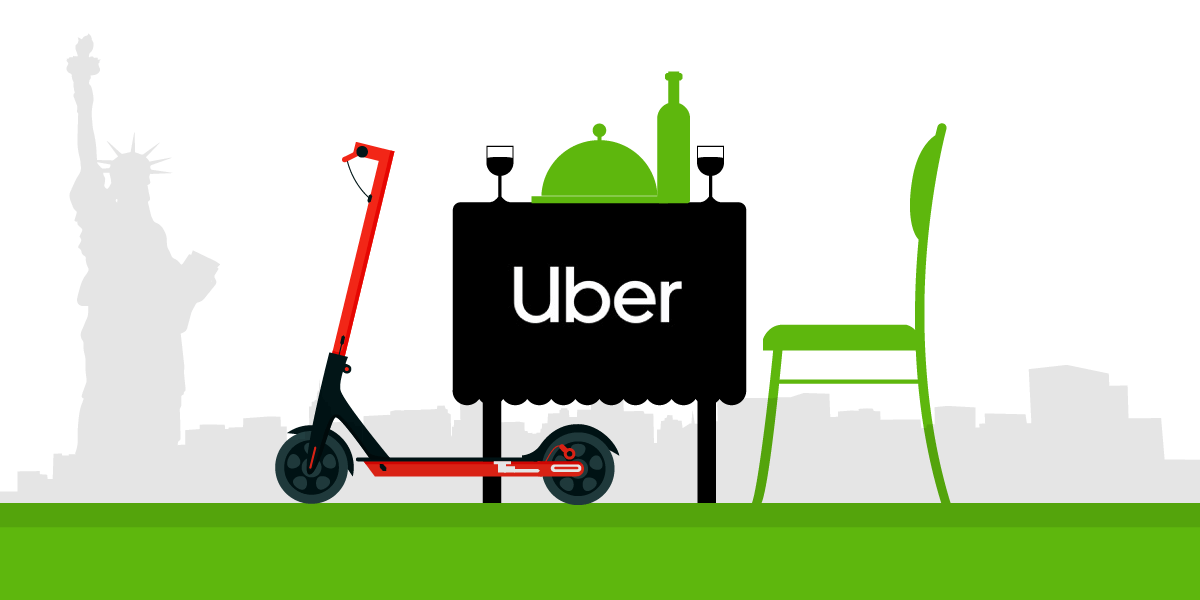 Uber Adds eScooters and Dine-In features For the US Locals