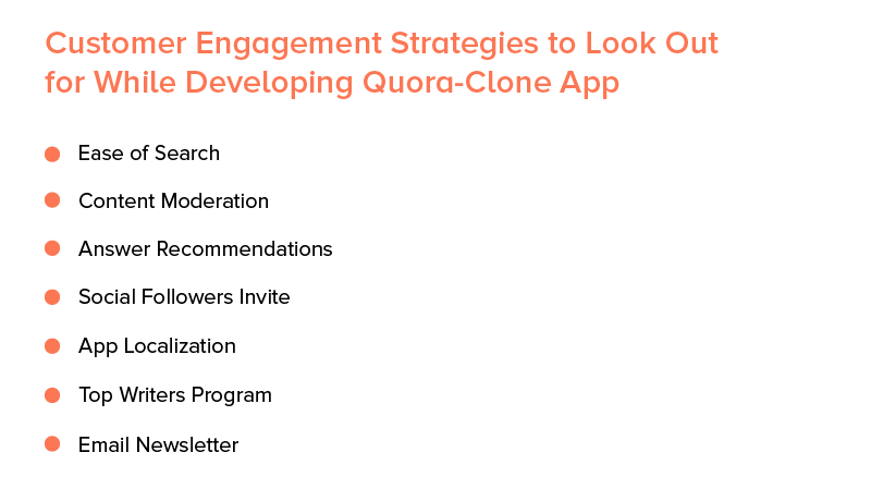 customer engagement strategies to look out for developing quora-clone app