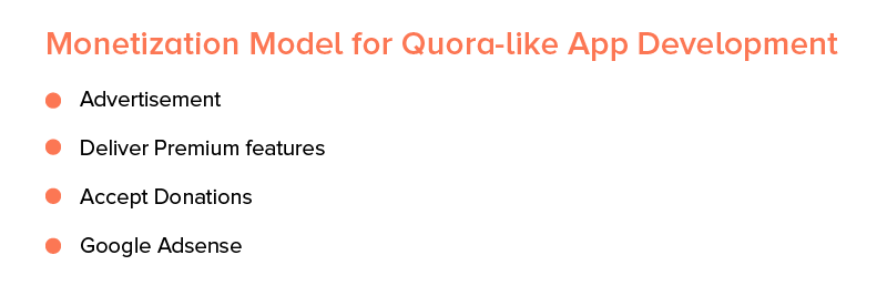 monetization model for quora like app development