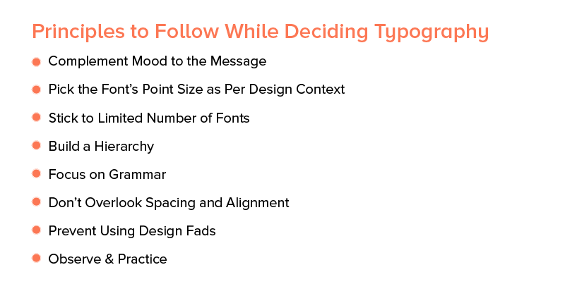 Principles to Follow While Deciding Typography