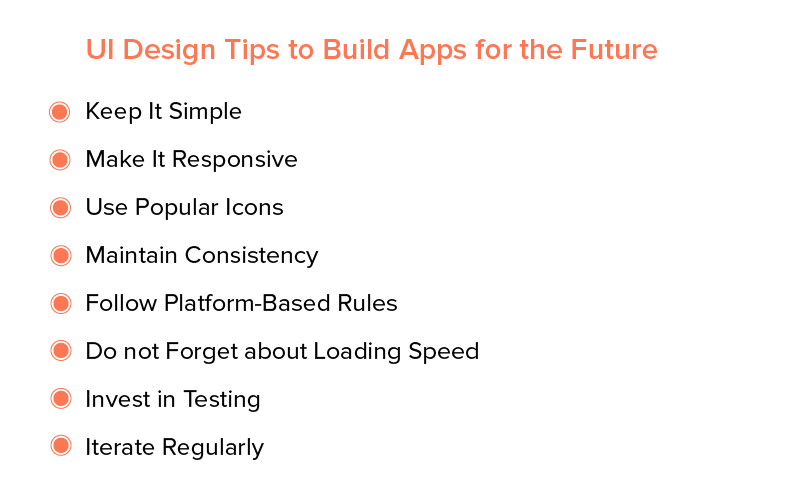 UI Design Tips to Build Apps for the Future