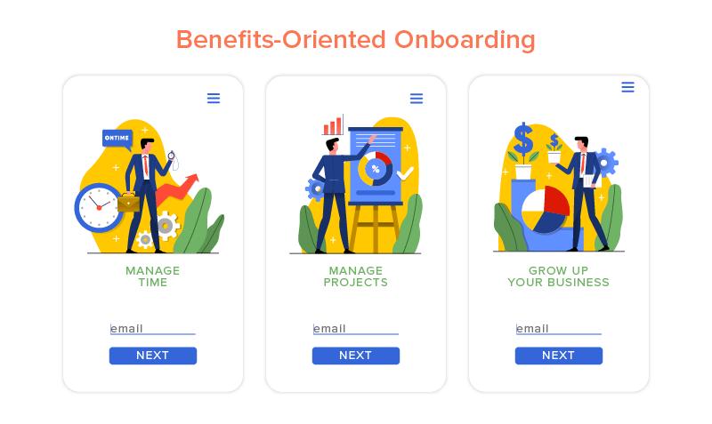 Benefits-Oriented Onboarding