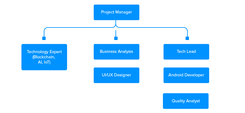app development team size