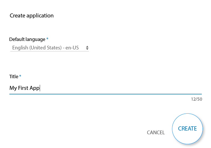 Create Application Panel