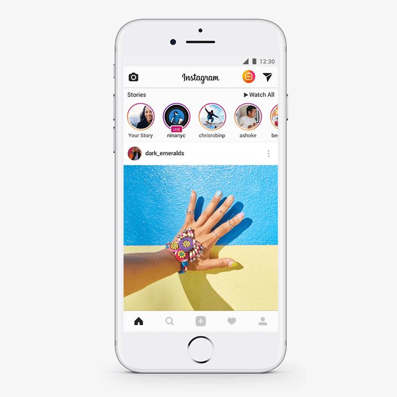 Minimal design concept in instagram