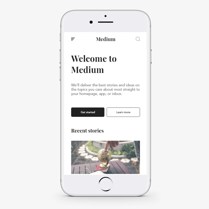 Minimal design concept in medium
