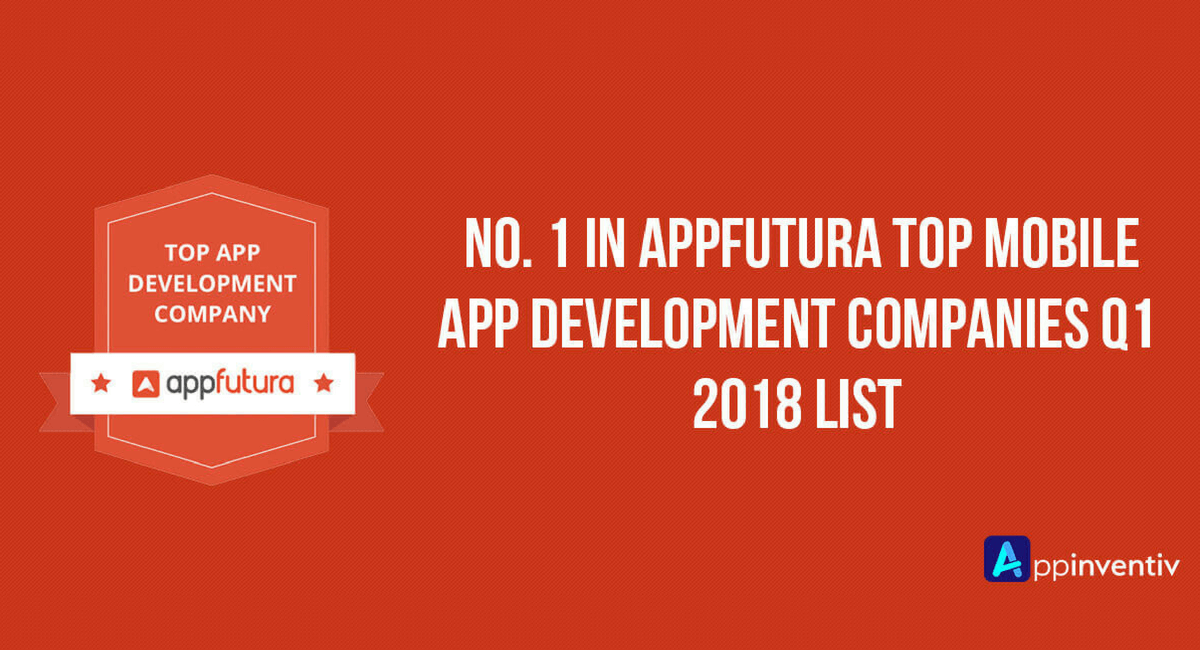 amlirAppinventiv Ranked #1 in Top Mobile App Development Companies Worldwide by Appfutura