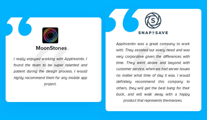 Client Testimonials on App Development Services